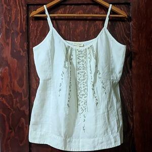 Eileen Fisher | Organic Linen Embelished Top
